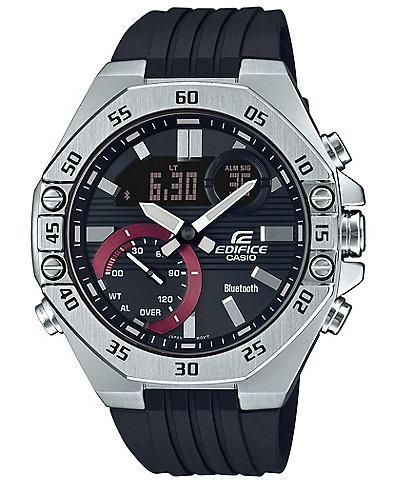 G-Shock Ana-Digi Stainless Steel Case Resin Strap Watch