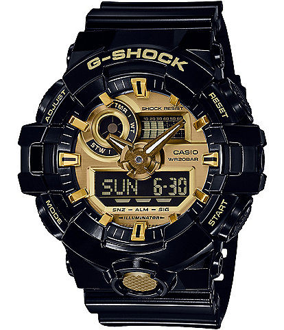 G-Shock Ana-Digi Black and Gold Watch