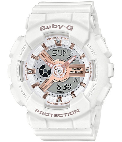 G-Shock Ana Digi White & Gold Shock Resistant Watch