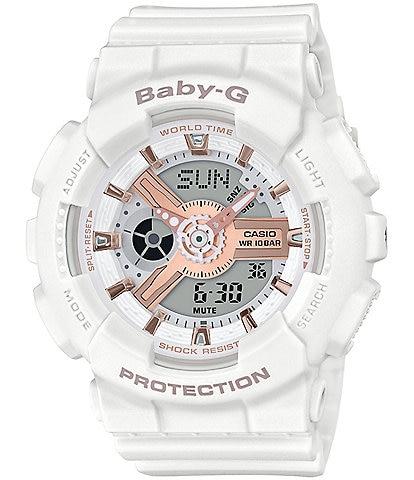 G-Shock Ana Digi White & Gold Shock Resistant Watch