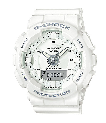 G-Shock Ana/Digi Resin-Strap Step-Tracking Watch