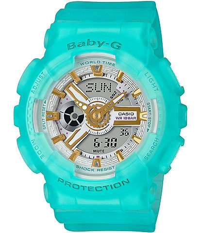 G-Shock Baby G Ana Digi Blue Skeleton Shock Resistant Watch