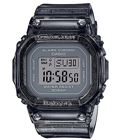 G-Shock Baby G Grey Shock Resistant Jelly Watch