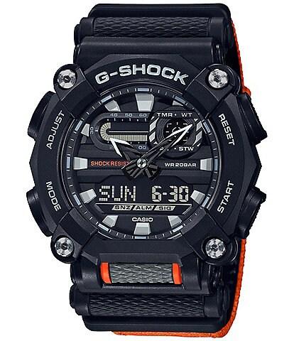 G-Shock Black and Orange Ana Digi Shock Resistant Watch