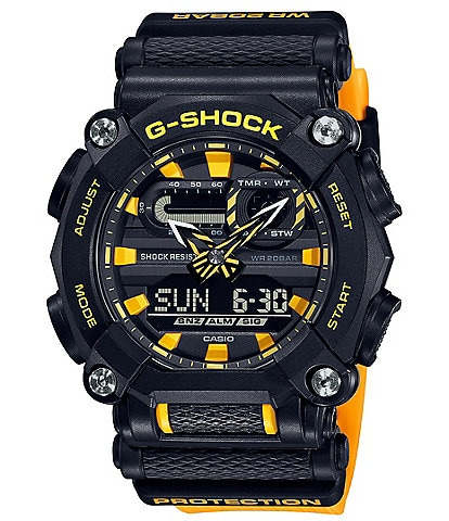 G-Shock Black and Yellow Ana Digi Shock Resistant Watch