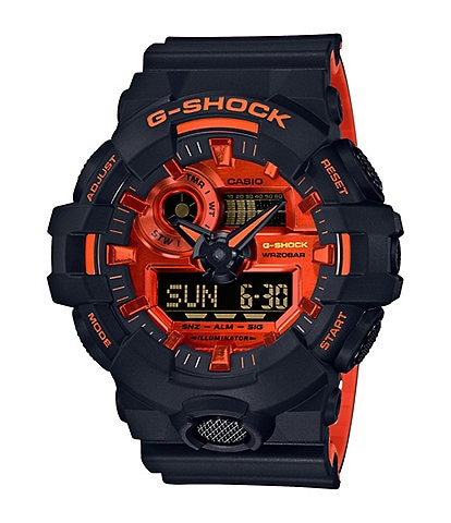 G-Shock Digital Black & Orange Shock Resistant Watch