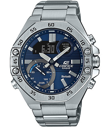 G-Shock Edifice Ana-Digi Stainless Steel Blue Dial Watch