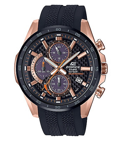 G-Shock Rose Gold Edifice Solar Powered Multifunction Watch