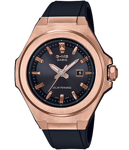 G-Shock G-MS Analog Rose Gold Black Resin Watch