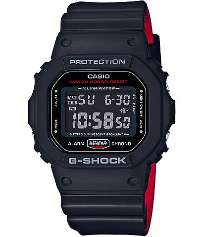 G-Shock Retro Square Digital Resin-Strap Watch