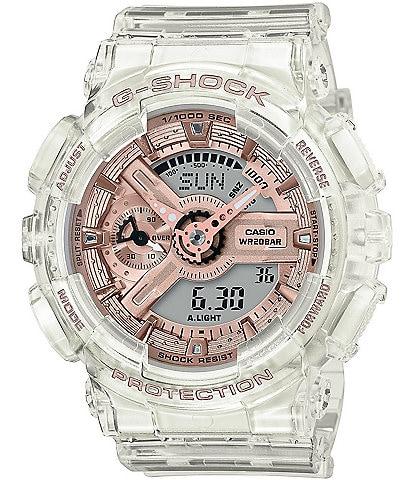 G-Shock Skeleton Pink Accent Ana Digi Watch