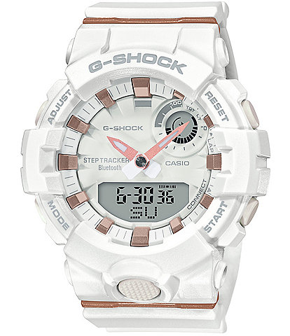 G-Shock White Analog/Digital Resin Shock Resistant Watch
