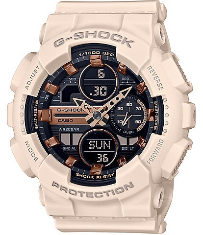 G-Shock Women's Ana-Digi Pink Resin Shock Resistant Watch