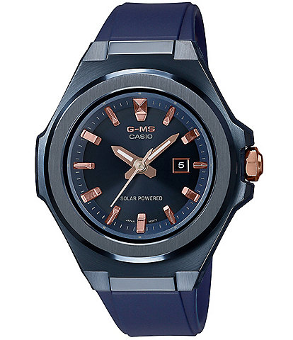 G-Shock Women's Navy Stainless Steel and Resin Watch