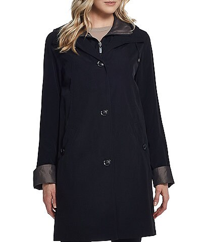 Gallery 3/4 Detachable Hood & Liner Silklook Raincoat