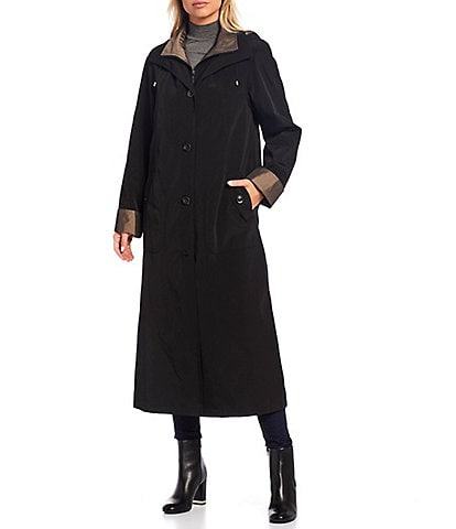 Gallery Hooded Maxi Raincoat With Detachable Liner