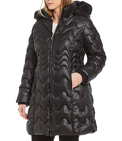 Gallery Plus Size Hooded Puffer Stadium Jacket
