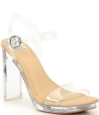 GB 2-Koool Lucite Heel Dress Sandals