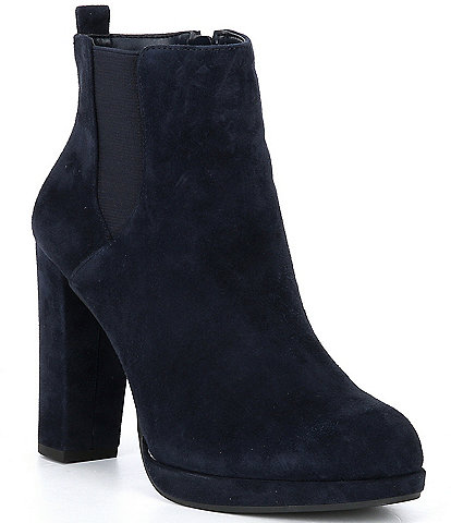 GB Ad-Mire Side Gore Suede Block Heel Dress Booties