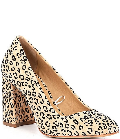 GB At-Last Leopard Print Block Heel Pumps