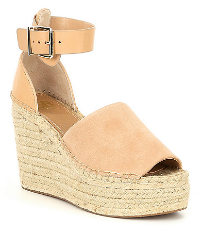 GB Big-Spender Leather Band Espadrille Wedge