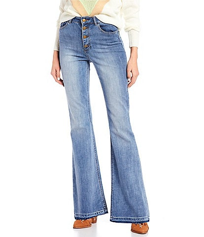 GB Button Front Flare Jeans