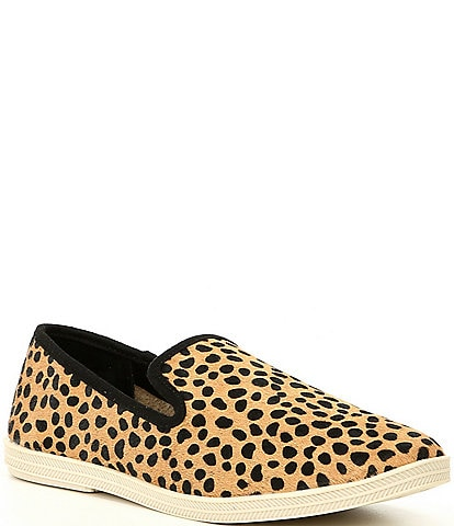 GB Campin-Out Leopard Haircalf Slip-On Sneakers