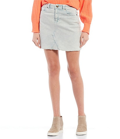 GB Coordinating Acid Wash Mini Skirt