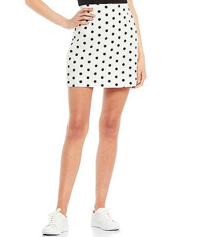 GB Coordinating Dotted Mid Rise Mini Skirt