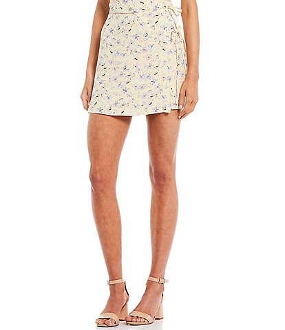 GB Coordinating Floral Double Tie Mini Skirt