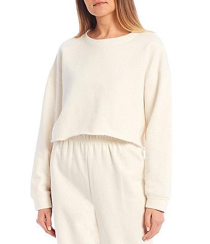 GB Coordinating Knit Cropped Sweatshirt