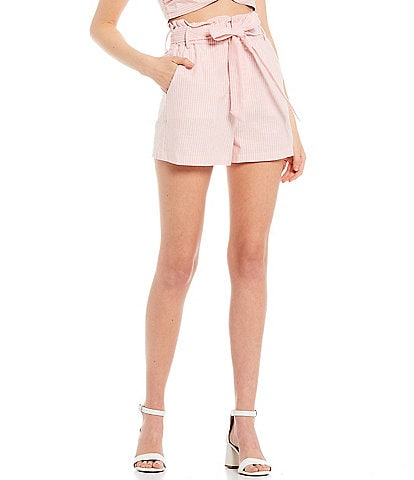 GB Coordinating Stripe Linen High Rise Shorts