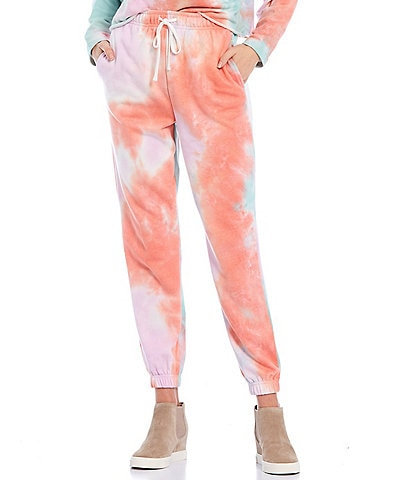 GB Coordinating Tie-Dye Drawstring Ankle Jogger Pants