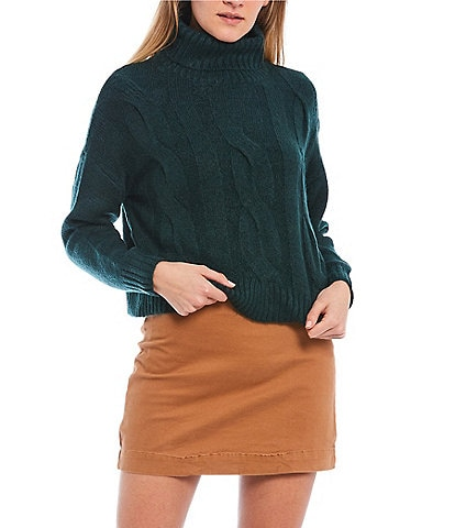 GB Cropped Turtleneck Sweater