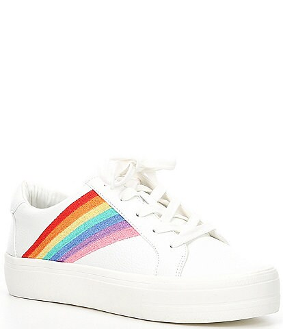 GB Day-Dreamin Rainbow Leather Lace-Up Sneakers