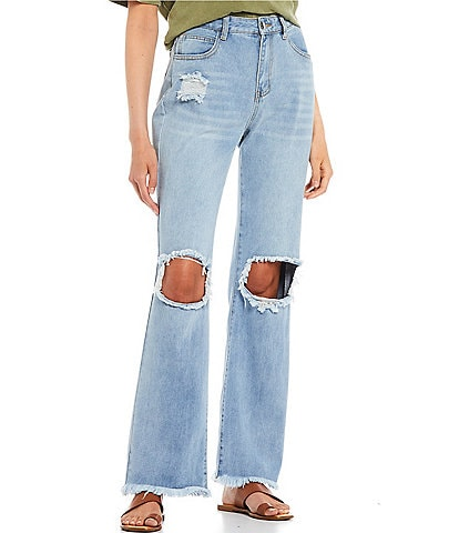 GB Distressed Boyfriend Jeans