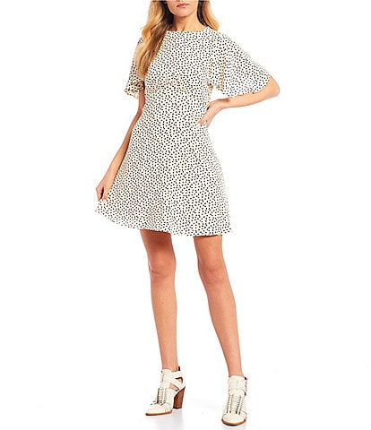 GB Dot Print Empire Waist Dress