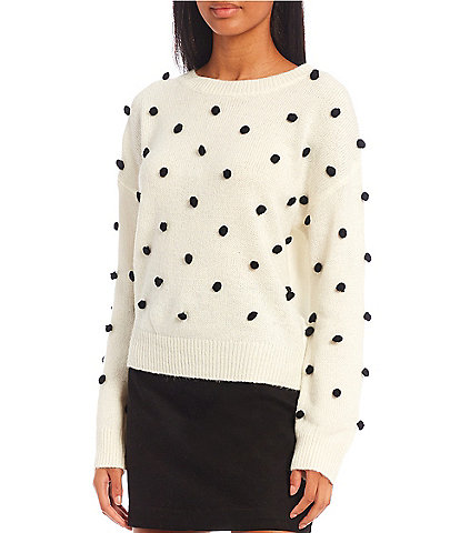 GB Dotted Crew Neck Sweater