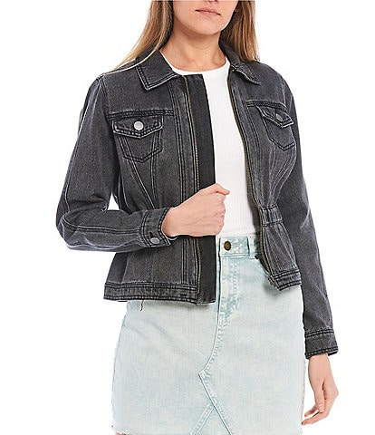 GB Elastic Waist Denim Jacket