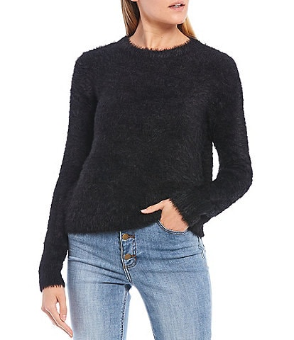 GB Eyelash Long Sleeve Round Neck Sweater
