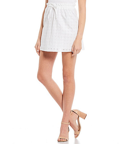 GB Coordinating Woven Eyelet Mini Skirt