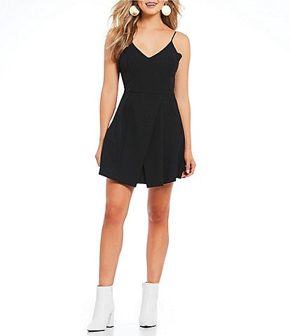 GB Fan Fav V-Neck Cross Back Swing Dress