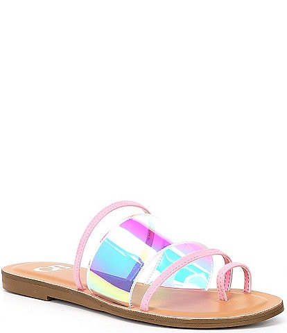 GB Flour-Escent Clear Toe Loop Sandals