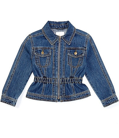 GB GB Girls Big Girls 7-16 Cinched-Waist Denim Jacket