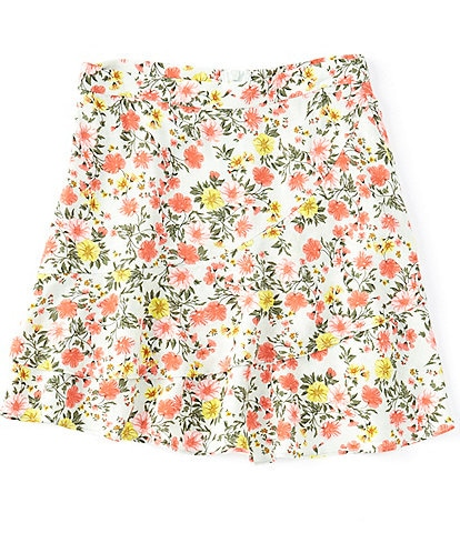 GB GB Girls Big Girls 7-16 Ditsy Floral Double-Ruffle Skirt