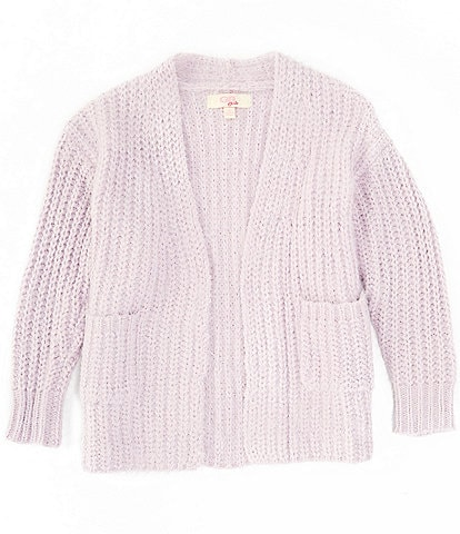 GB GB Girls Big Girls 7-16 Eyelash Cardigan