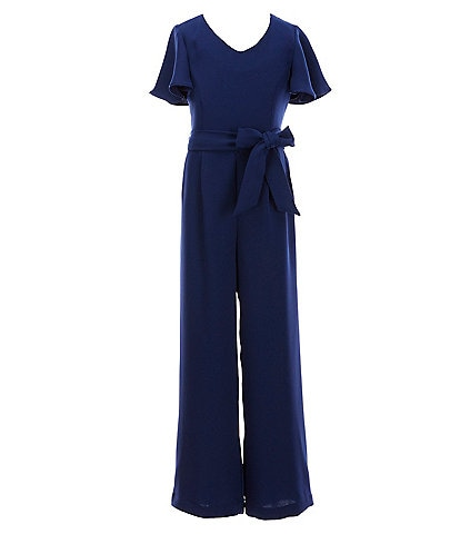 GB GB Girls Big Girls 7-16 Flutter-Sleeve Jumpsuit