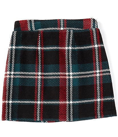 GB GB Girls Big Girls 7-16 Holiday Menswear-Plaid Mini Skirt