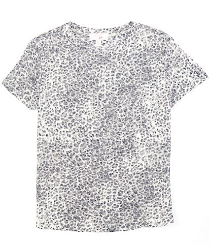 GB GB Girls Big Girls 7-16 Short Sleeve Animal-Print Tee