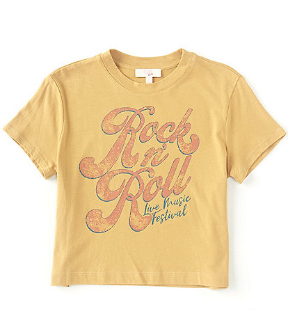 GB GB Girls Big Girls 7-16 Short-Sleeve Rock N' Roll Tee